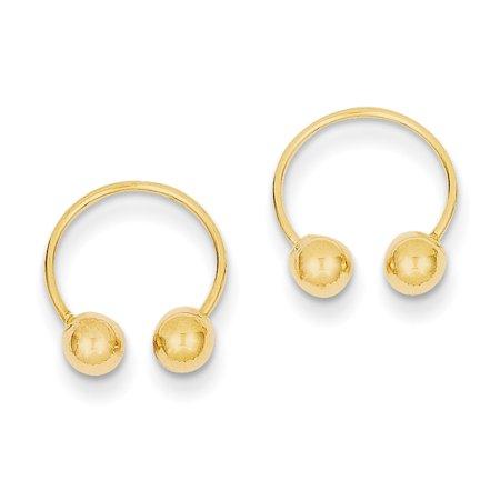 14k Madi K Open Hoop Beaded Earrings SE473 - image 1 of 1