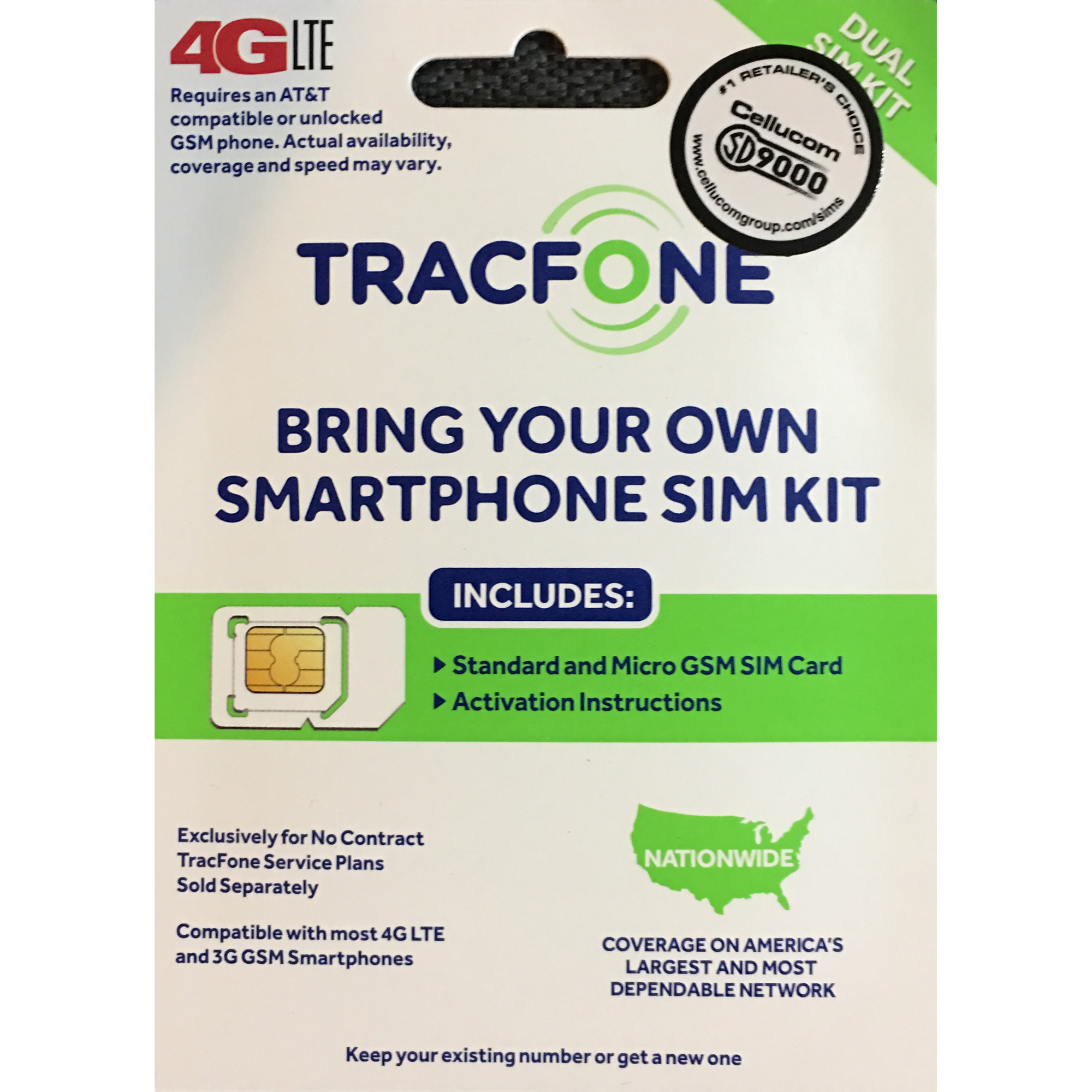 Tracfone Bring Your Own Smartphone Standard and Micro Sim Kit - TFTRPKC4D