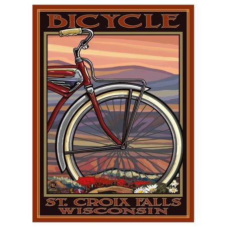 Bicycle St. Croix Falls Wisconsin Old Half Bike Giclee Art Print Poster by Paul A. Lanquist (9
