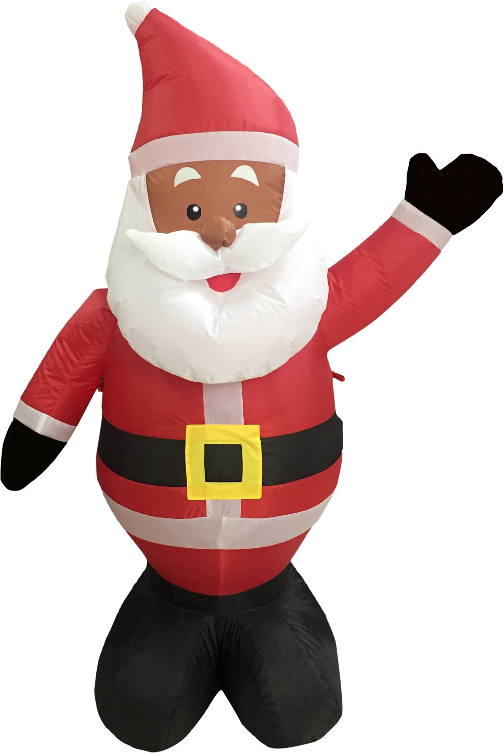 Black African American Santa Claus 4u0027 Inflatable Airblown Christmas Yard  Decor