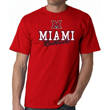 J2 Sport Miami University hawks NCAA Campus Script T-Shirt ()