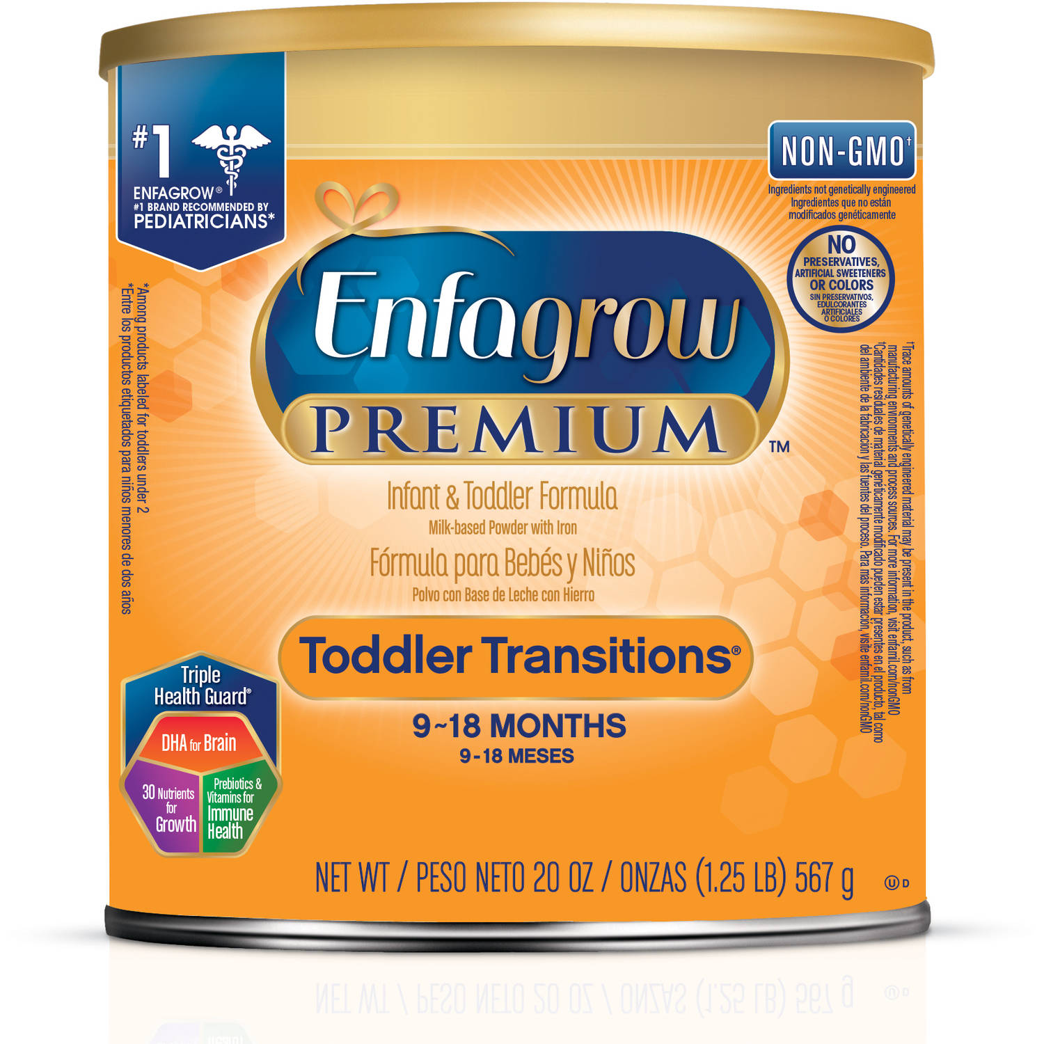 Enfagrow Toddler Transitions Infant and Toddler Formula -- 20 oz Powder Can