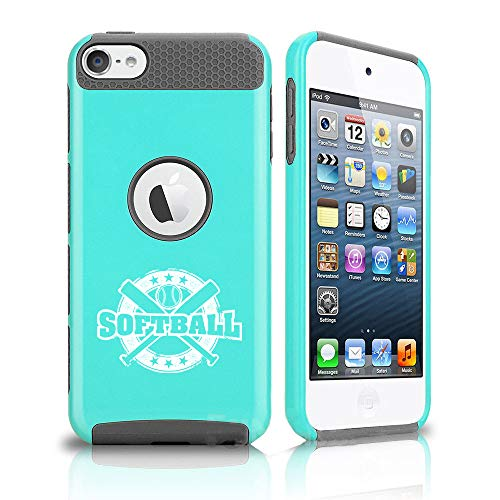 For Apple iPod Touch 5th 6th Shockproof Hard Case Cover Softball Vintage