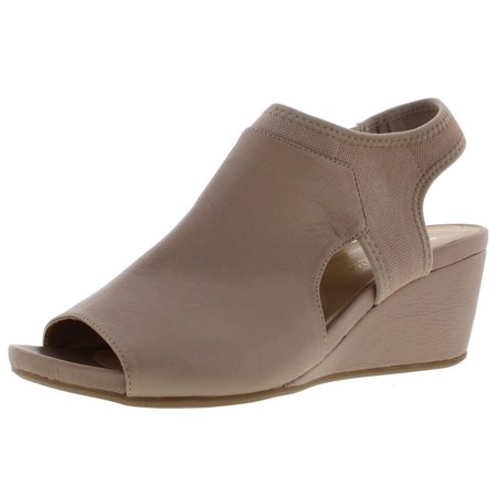 1b3baf9e801 Naturalizer Womens Cailla Leather Dress Wedge Sandals - Walmart.com