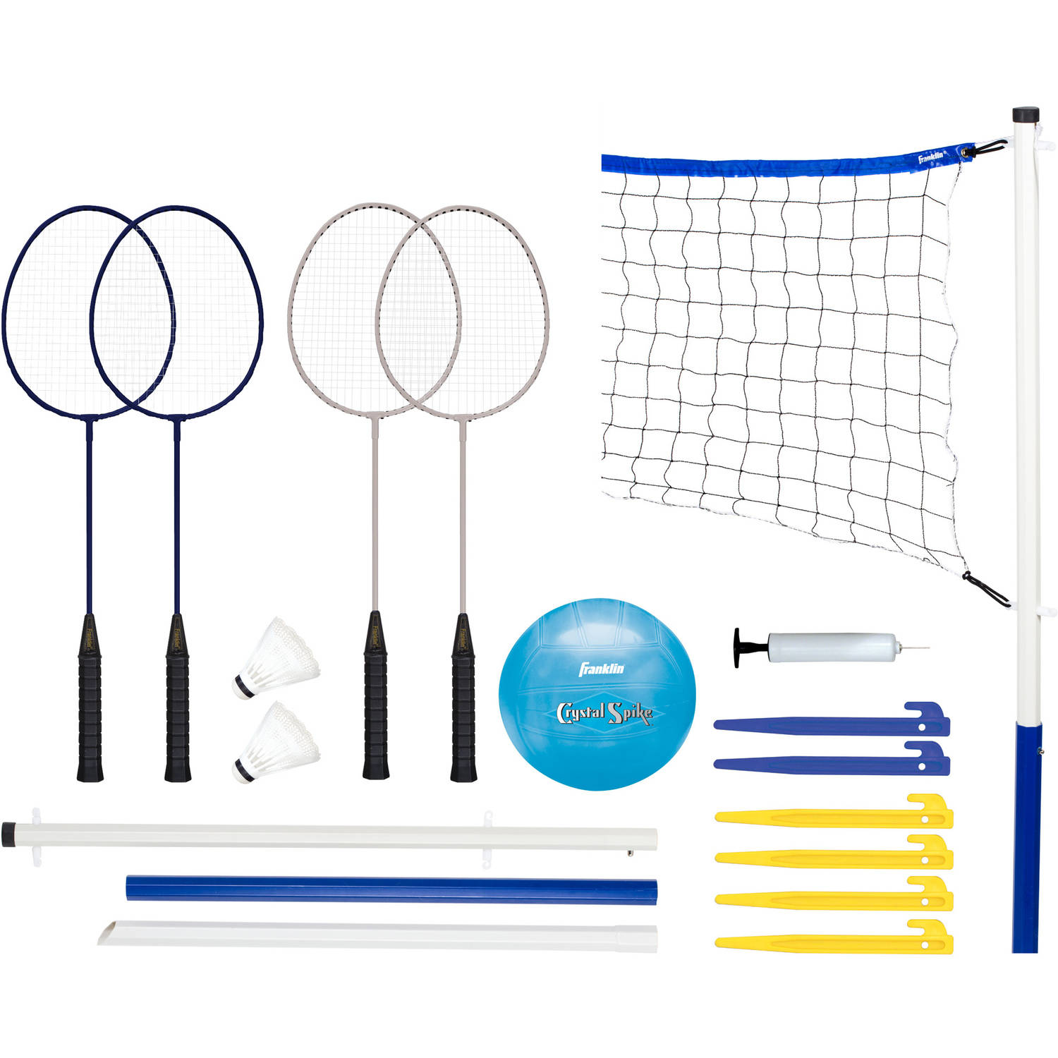 Franklin Sports Recreational Badminton and Volleyball Set