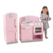 Kidkraft Pink Retro Kitchen Refrigerator Image 1 Of 13