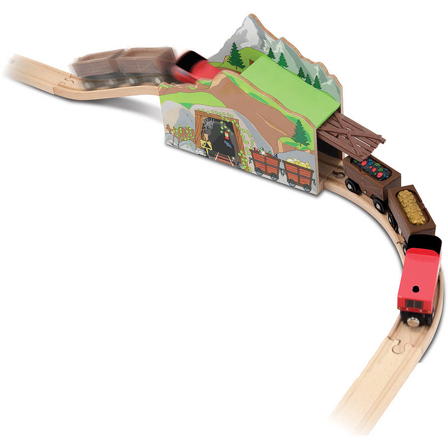 Melissa & Doug Magic Mine Train Tunnel Wooden Train Accessory Set With Sound Effects (5 pcs) by Generic