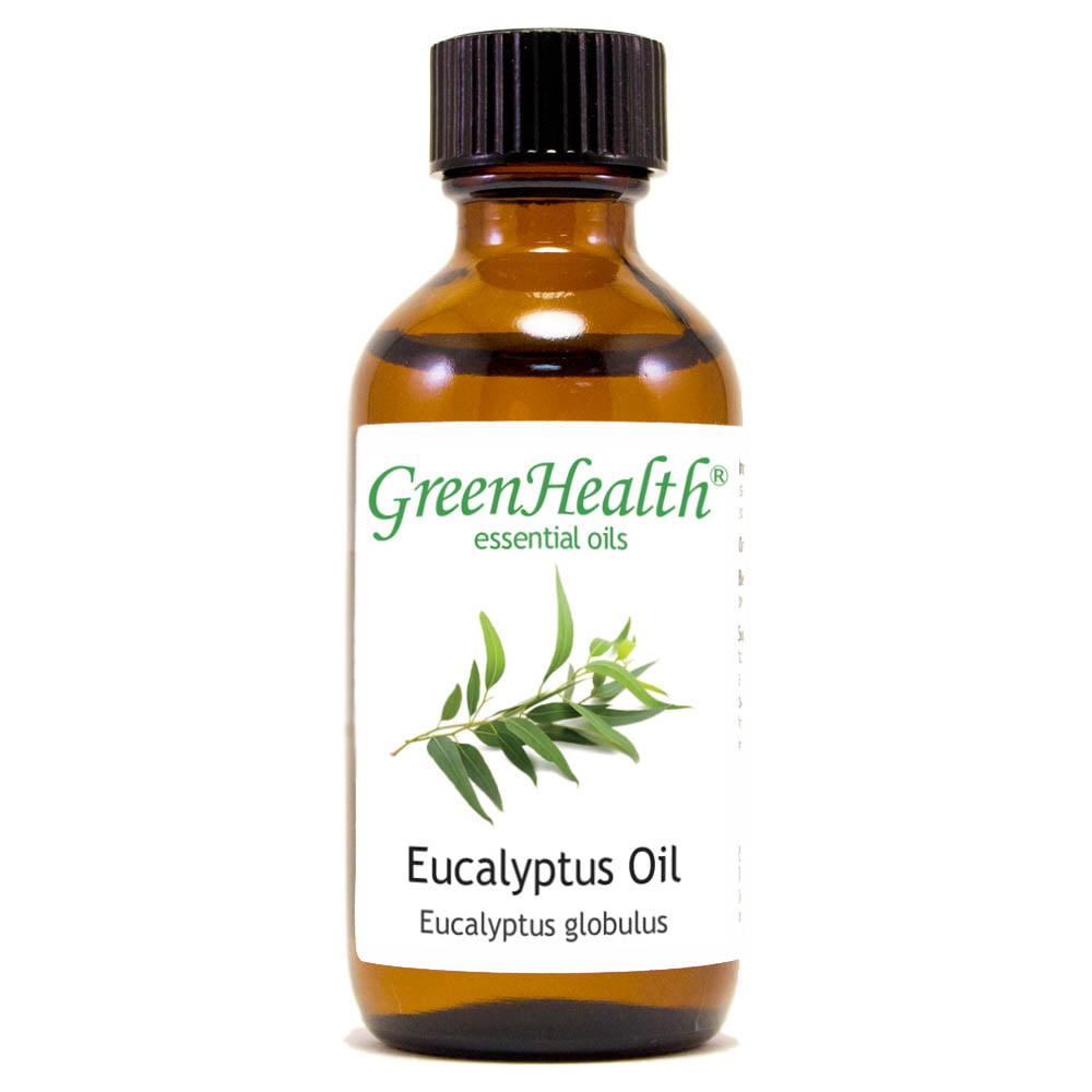Eucalyptus Essential Oil - 128 fl oz (1 Gallon) Plastic Bottle w/ Cap - 100% Pure Essential Oil by GreenHealth