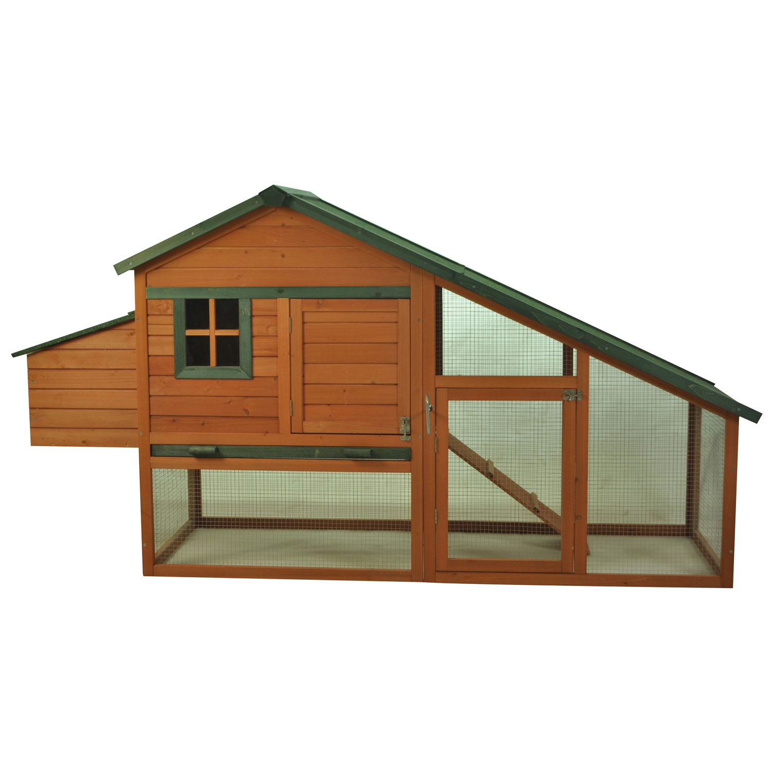 Pawhut Deluxe Backyard Wood Chicken Coop Poultry Hen House w/Run