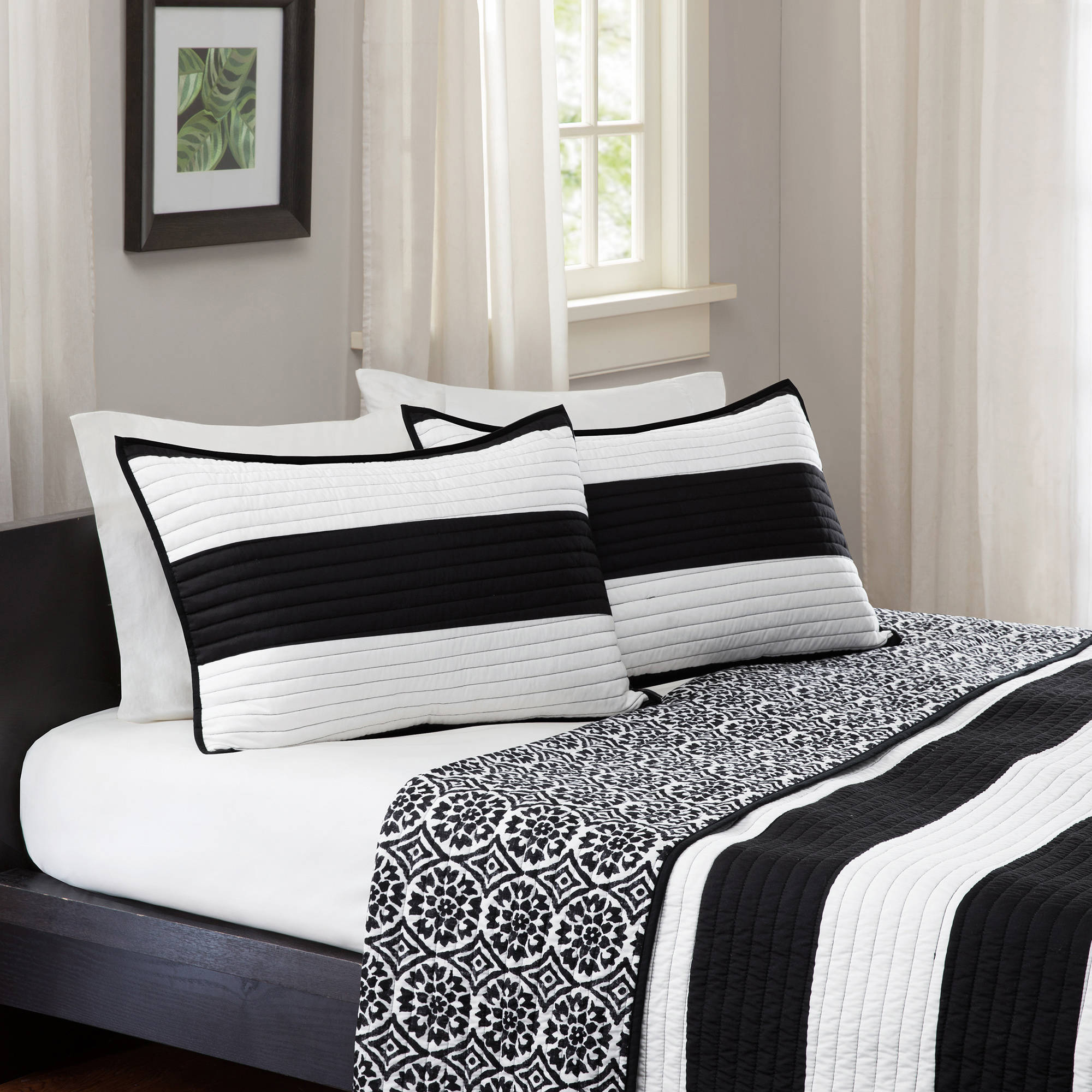 better homes and gardens cabana bedding quilt blackwhite walmartcom