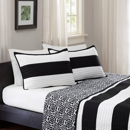 Better homes and gardens cabana bedding quilt black white for Better homes and gardens quilt