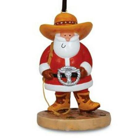 Ride 'Em Rodeo Cowboy Santa Christmas Holiday Ornament](Cowboy Christmas Decorations)