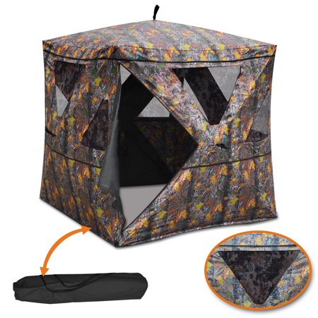Sunrise Outdoor Camouflage Hunting Blind Shooting Tent, Waterproof, for 2-3 Person, with Carry - Shooting Water
