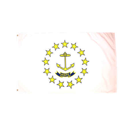 3x5 Foot Rhode Island Flag Double Stitched Rhode Island State Flag with Brass Grommets | 3 by 5 Foot Premium Indoor Outdoor Polyester Banner Flag