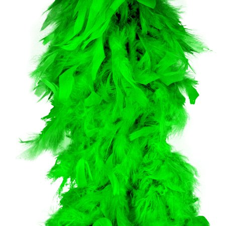 Lime Green Feather Boa (6', 60 grams) - Cheap Feather Boas Bulk
