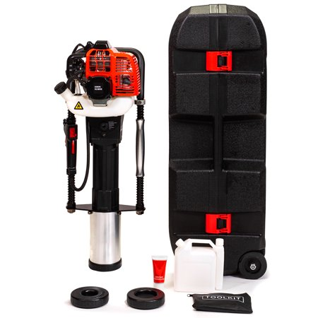 XtremepowerUS 52cc Gas-Powered T Post Driver Fence Post Driver Gasoline EPA w/ Storage Case