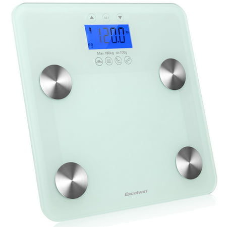 Body Fat Scale, Excelvan Smart Digital Bathroom Weight Scale Body Composition Analyzer Health Monitor for Body Weight, Fat, Water, BMI, BMR, Muscle Mass