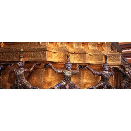 Close-up of statues in a temple Grand palace Bangkok Thailand Poster (Best Temples In Thailand)