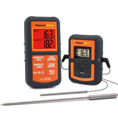 ThermoPro TP08 Wireless Remote Kitchen Cooking Meat Thermometer - Dual Probe for BBQ Smoker Grill Oven - Monitors Food from 300 Feet Away