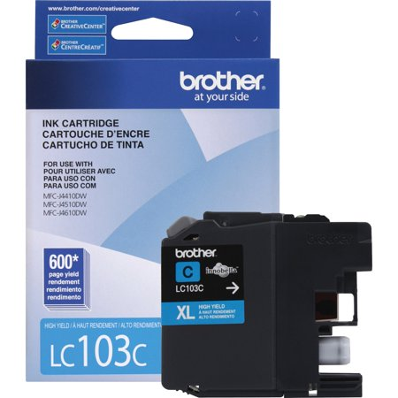 - Brother LC103C Innobella High-Yield Ink, Cyan