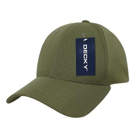 Decky 870 2 Size Curve Bill Flex Caps-Olive- S_M