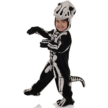 Underwraps Big Boy's Children's Fossil Dinosaur Costume - T-Rex, Small Childrens Costume, Black/White, Small - Childrens Place Costumes