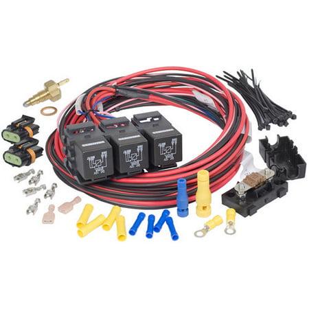 painless wiring gm ls/gen iii dual activ dual fan relay 30118