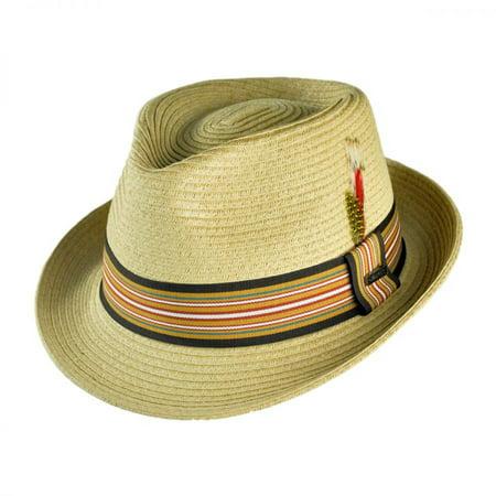 2b937951c Ridley Toyo Straw Trilby Fedora Hat - XXL - Natural