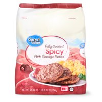 Great Value Fully Cooked Spicy Pork Sausage Patties, 24.92 oz