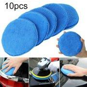10pcs 5 Inch 125mm Car Polishing Pads Wax Foam Sponge Microfiber Cleaning Buffer