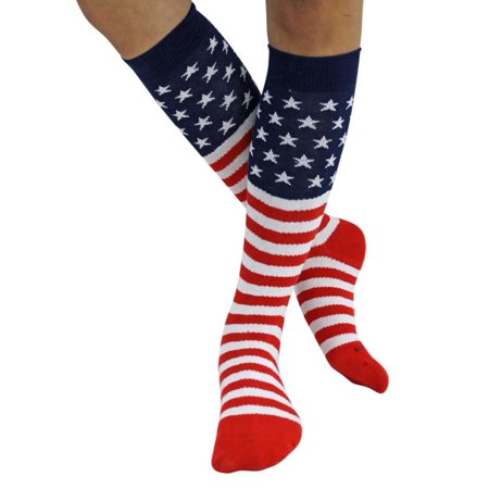 American Flag Knit Knee High Socks Walmart