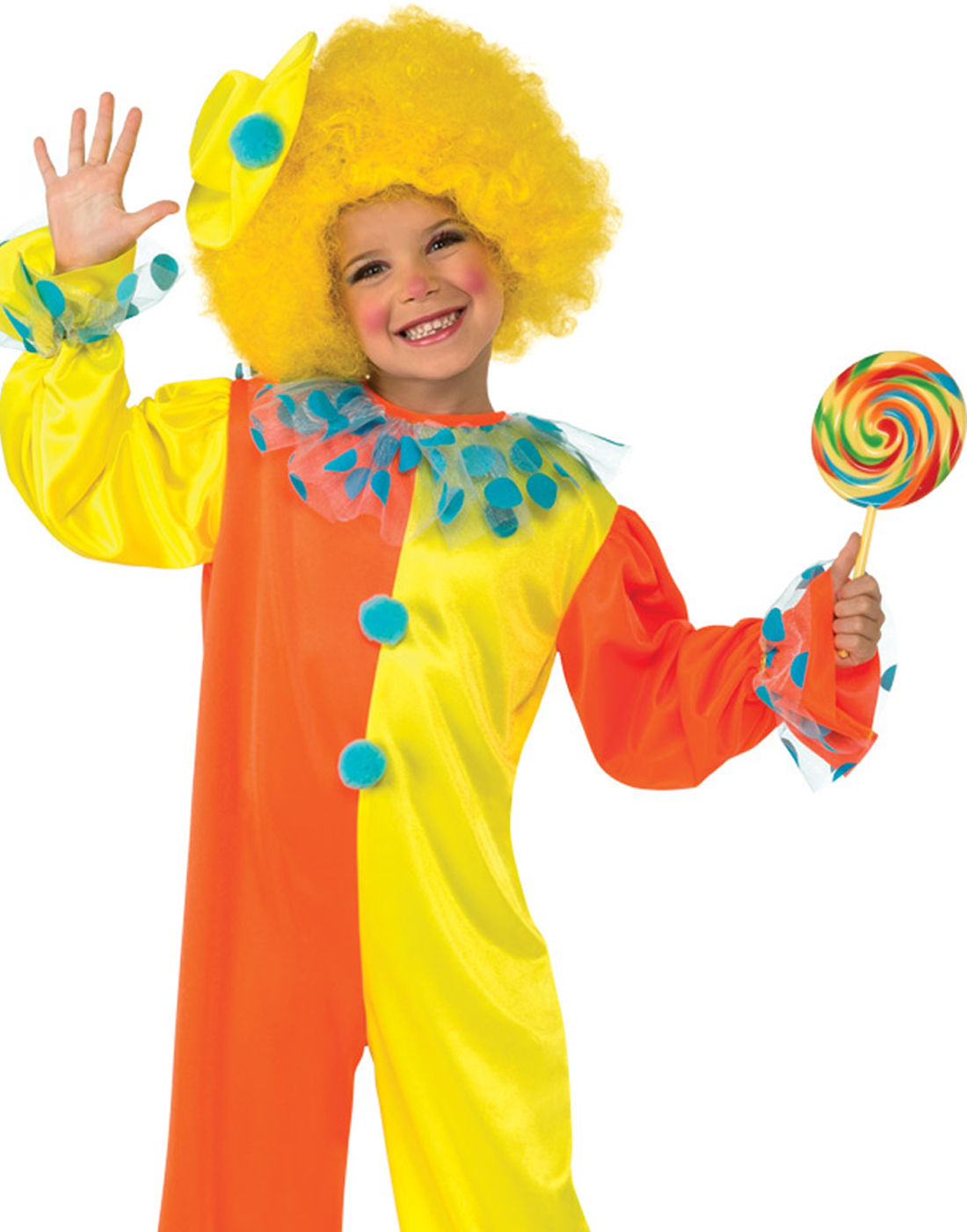 Party Clown Kids Jumpsuit Fun Toddler Halloween Fancy Dress Costume With Hat M  sc 1 st  Walmart & Clown Costume for Kids