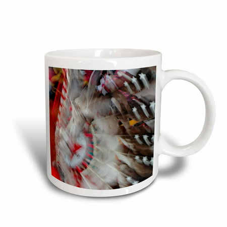 3dRose Native American Indian dance, Montana - US27 AJE0094 - Adam Jones, Ceramic Mug, 15-ounce
