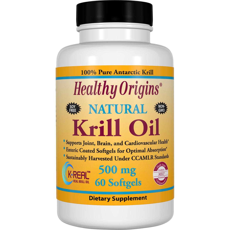 Healthy Origins Krill Oil Softgels, 500 Mg, 60 Ct