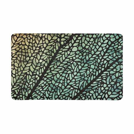 MKHERT Close Up of Dragonfly Wing in a Shimmery Iridescent Rainbow Effect Doormat Rug Home Decor Floor Mat Bath Mat 30x18 inch