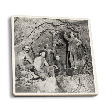 Coeur Dalene  Idaho   Chance Mine Lead Mining   Vintage Photograph  Set Of 4 Ceramic Coasters   Cork Backed  Absorbent