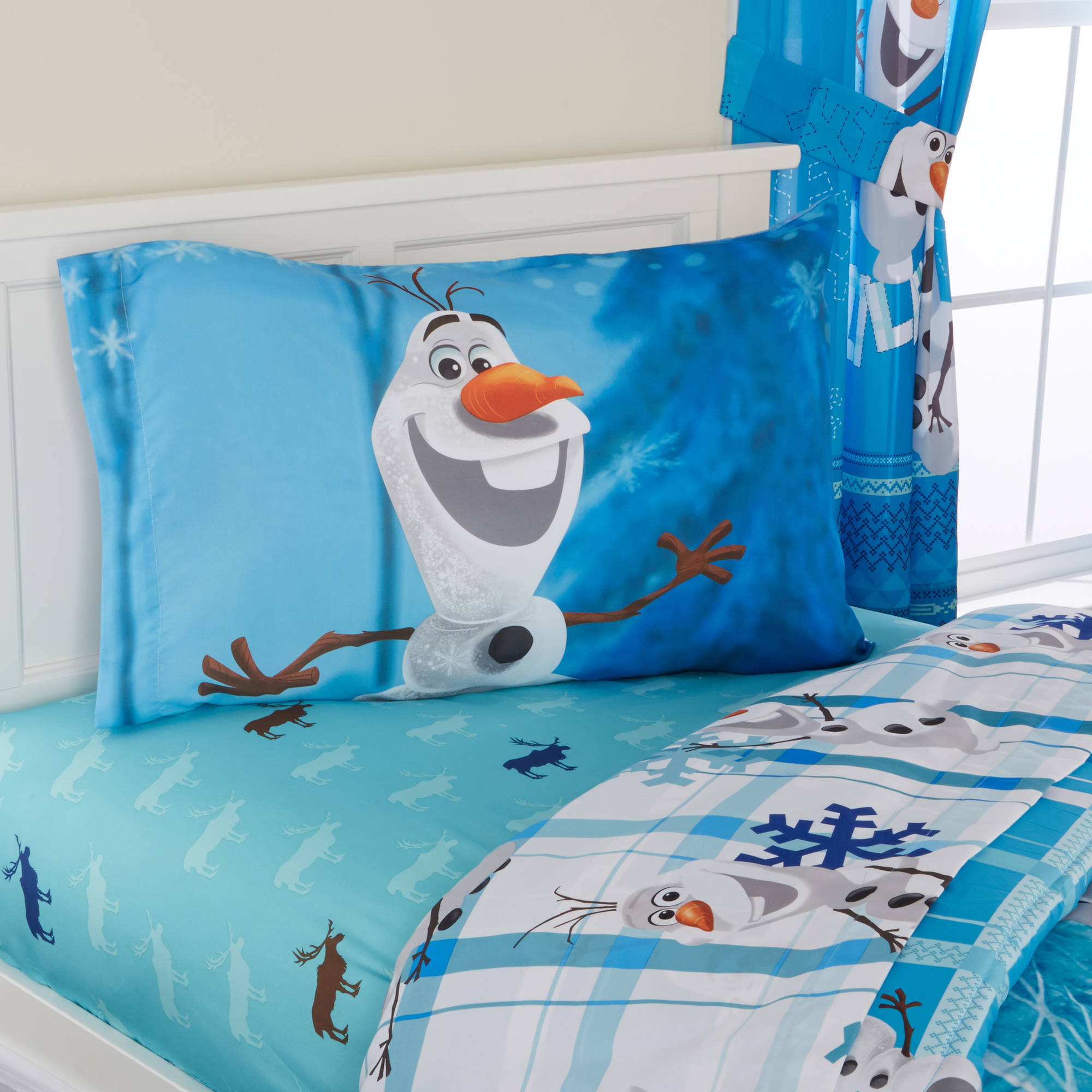 frozen olaf reversible bed in a bag 5 piece bedding set walmartcom