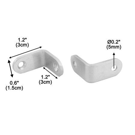 Stainless Steel Shelf Shelves Corner Brace Angle Bracket 3 x 3 x1.5cm 17 Pcs - image 3 of 4