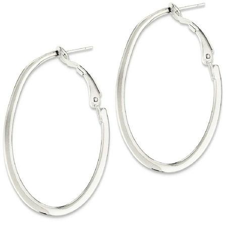 Ice Carats 925 Sterling Silver Hoop Clip Back Earrings Ear Hoops Set Fine Jewelry Ideal Gifts