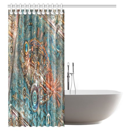 POP Apartment Decor Steampunk Bathroom Rustic Shower Curtain, Fragment of the Panel Fish made in style Steampunk Shower Curtain Set 60x72 inch - image 1 of 3