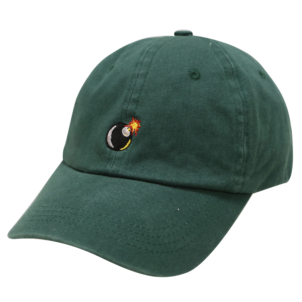 City Hunter C104 Bomb Small Embroidery Cotton Baseball Cap Hunter Green