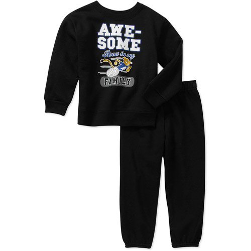 Garanimals Baby Toddler Boy 2-Piece Graphic Fleece Pullover and Pant Set
