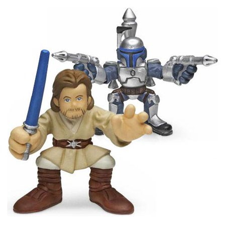 Star Wars Galactic Heroes Jango Fett and Obi-Wan - Star Wars Jango Fett
