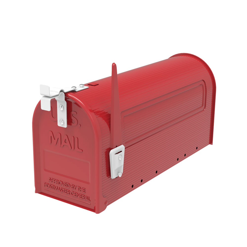 Ktaxon Post-Mount Mailbox, Large Size Red Galvanized Steel Outdoor Mail Box, Rural Styel,... by