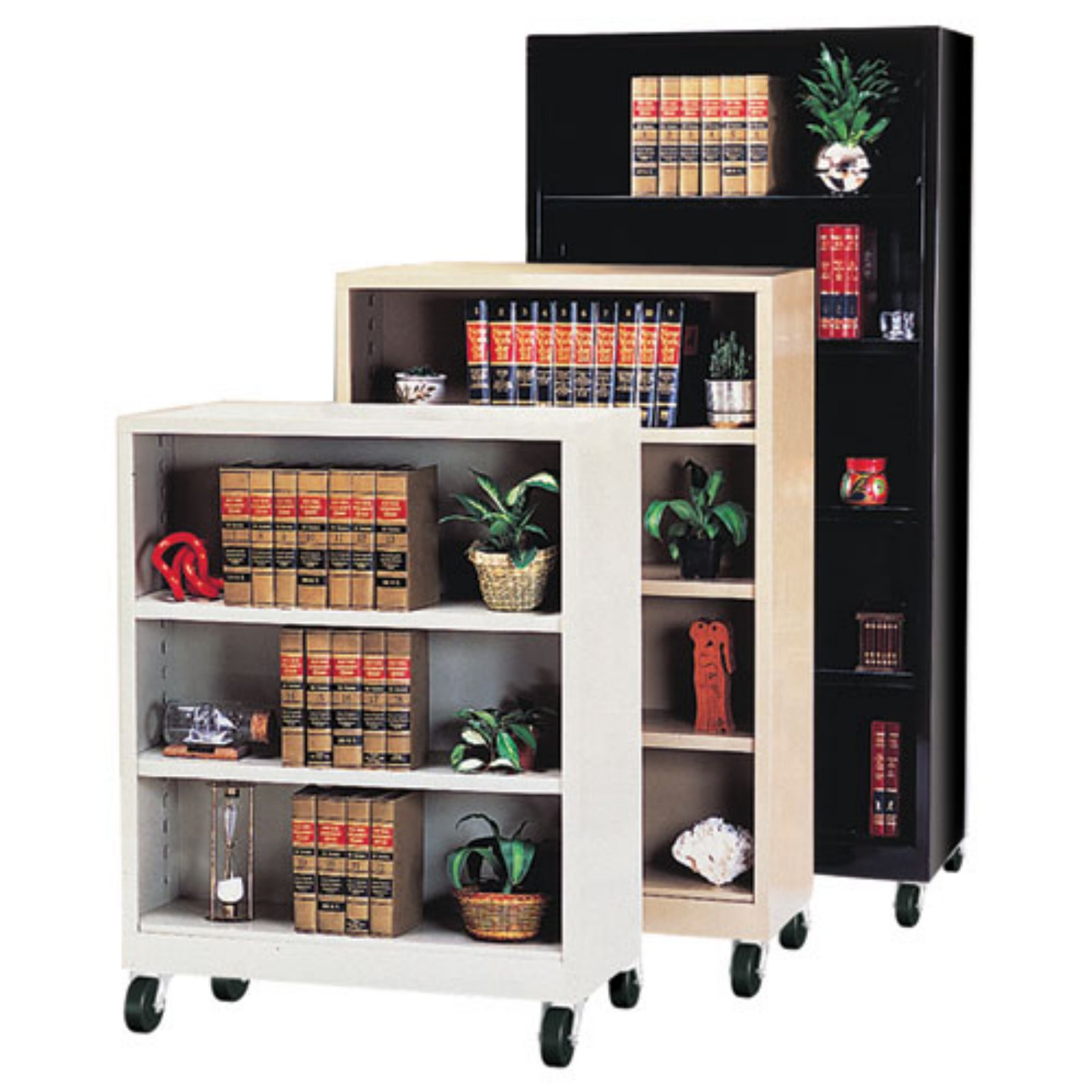 Sandusky Lee Heavy Duty Commercial Mobile Metal Bookcase