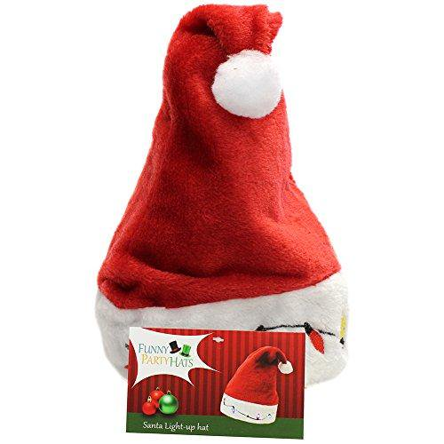 fbfd442cffcd3 Funny Party Hats Santa Hats - Christmas Novelty Hats - Blinking Santa Hat - LED  Blinking Lights Holiday Hats - Walmart.com