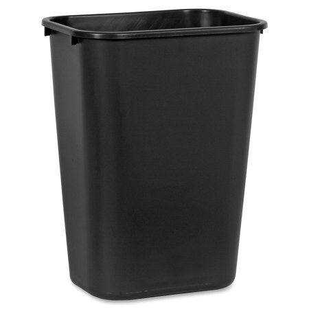 Rubbermaid Commercial, RCP295700BK, Standard Series Wastebaskets, 1, Black