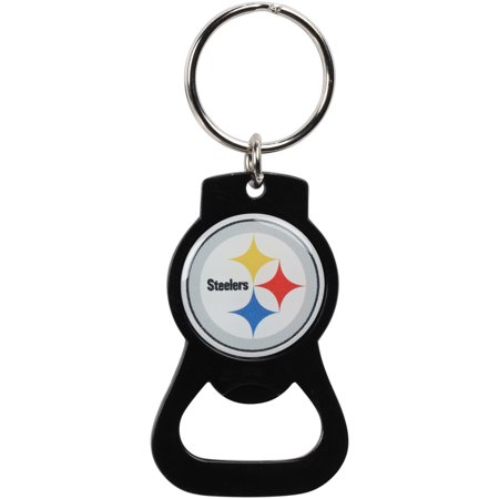Pittsburgh Steelers Bottle Opener Keychain - Black - No Size (Pittsburgh Steelers Ring)