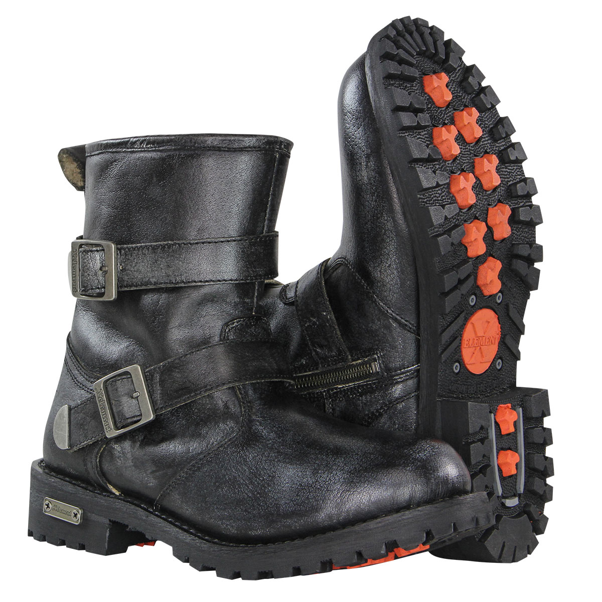 Xelement X93027 BLACK Torque Mens Distressed Grey Performance Leather Boots