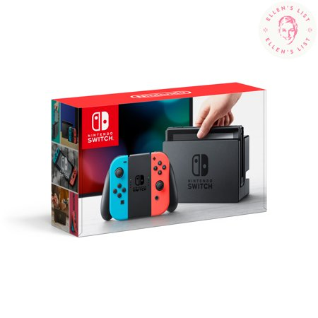 Nintendo Switch Console with Neon Blue & Red Joy-Con, (Deluxe Filtration System)